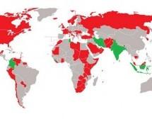 Curiosidades> Mapa de Himnos del Mundo donde se menciona a Dios.