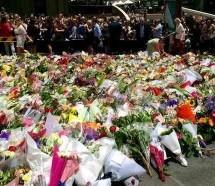 Indradyumna swami y un grupo de Harinam, presentes en el luto por la tragedia de Australia