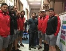 Selección de Rugby de Canadá Visita ISKCON Leicester