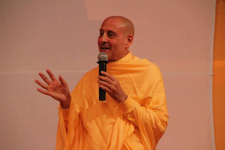 Su Santidad Radhanatha Swami, uno de los honorables asistentes al ILS 2014