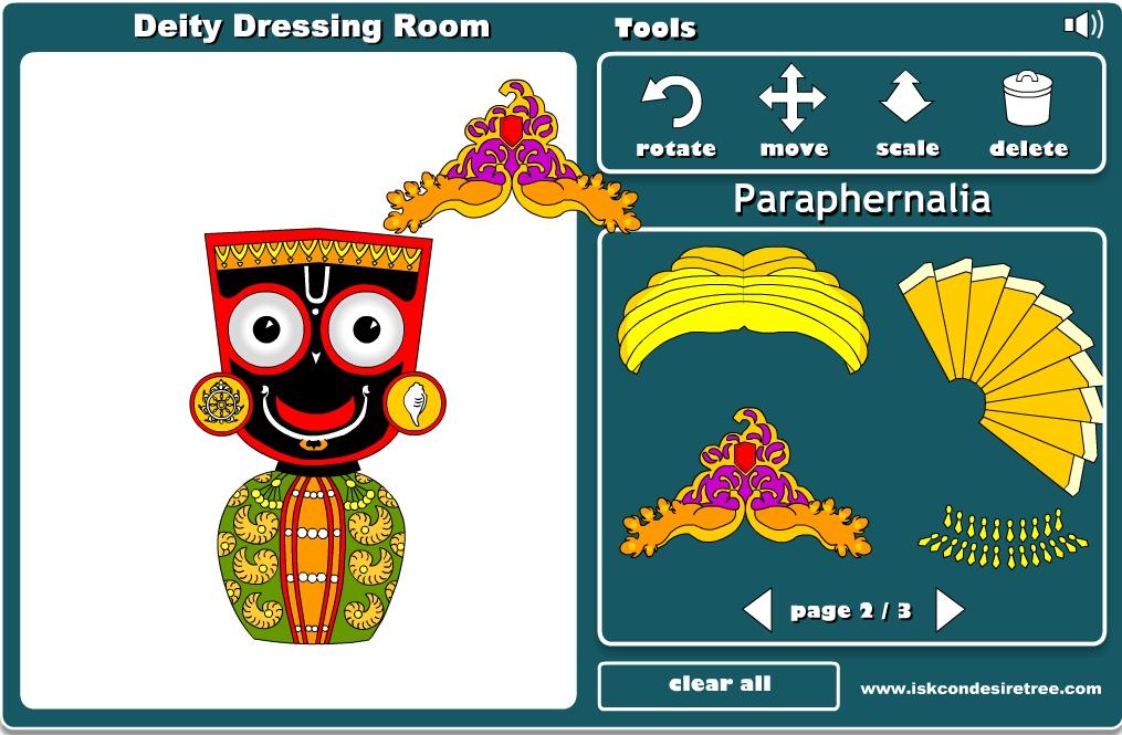 Vistiendo al Señor Jagannatha