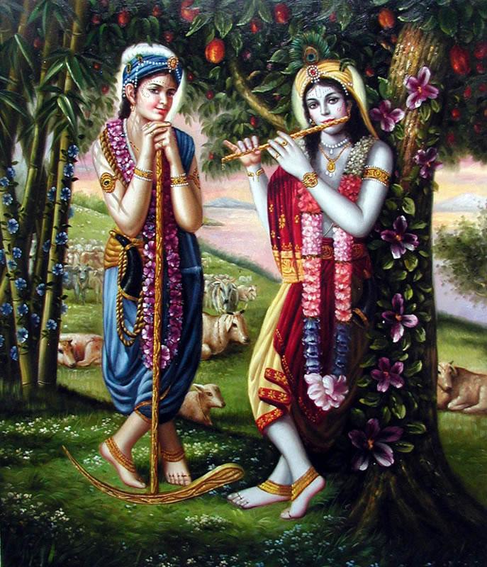 Los Hermanos trascendentales Sri Krishna Y Sri Balaram