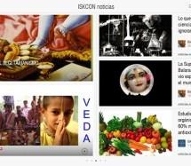 ISKCON Noticias en formato magazine, Flipboard
