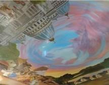 """Nuevas pinturas en el techo cautivan a la italiana """"Villaggio Hare Krishna"""""""