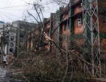 Impactos del Ciclón Hudhud en ISKCON Visakhapatnam