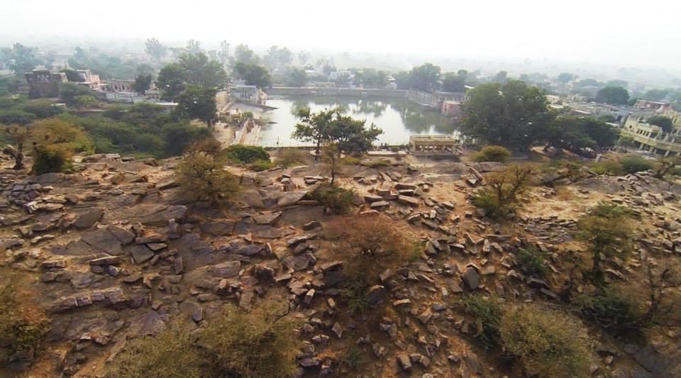 Govardhana Hill and Govinda Kunda