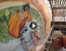 VIDEO: Como se hacen las Pinturas para el templo del Planetario Védico.