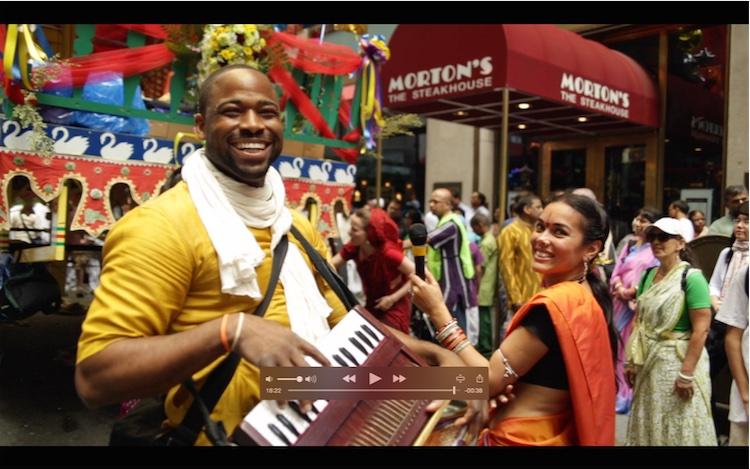 Una escena del Ratha Yatra de Nueva York