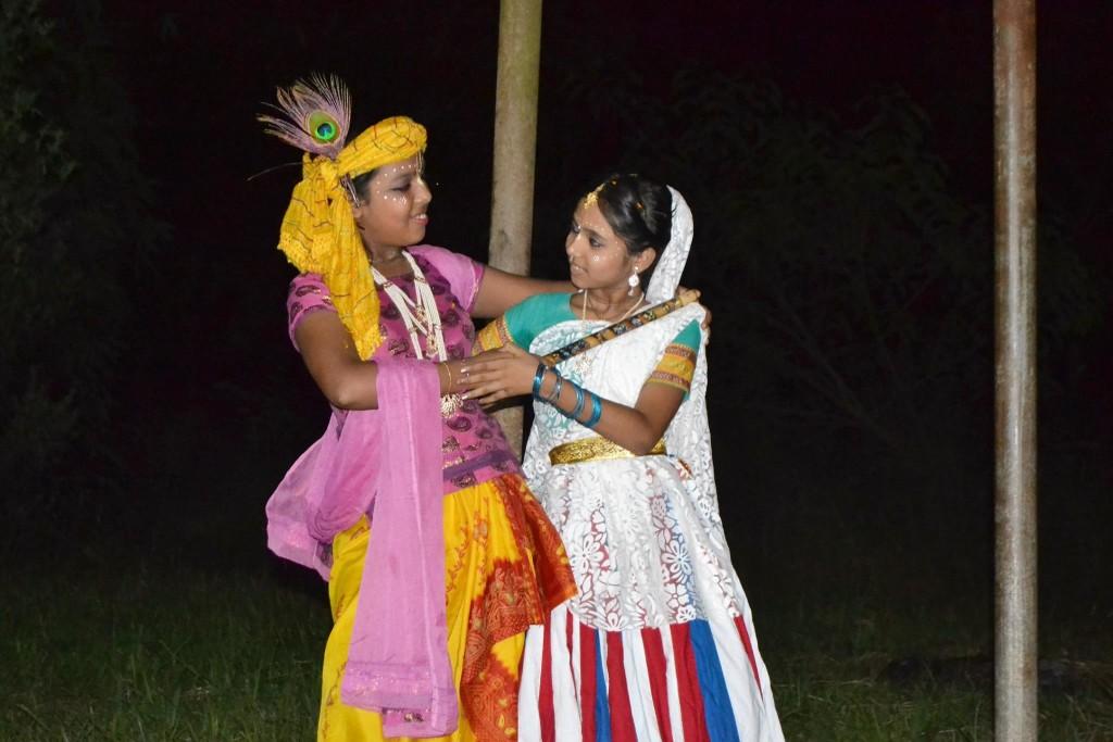 La pareja Divina representada en la obra de teatro
