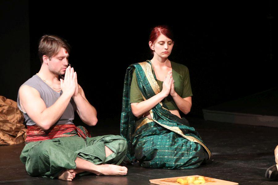 Sita Y rama orando en el exilio